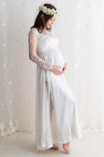 ウエディング風ロングスリーブドレス